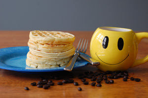 Coffee with Waffles Makes You Happy