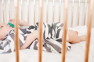 Thin Striped Jersey Knit Swaddle Blanket