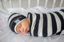 Load image into Gallery viewer, Classic Striped Knit Swaddle Blanket