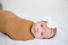 Load image into Gallery viewer, Caramel Jersey Knit Swaddle Blanket