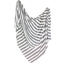 Load image into Gallery viewer, Thin Striped Jersey Knit Swaddle Blanket
