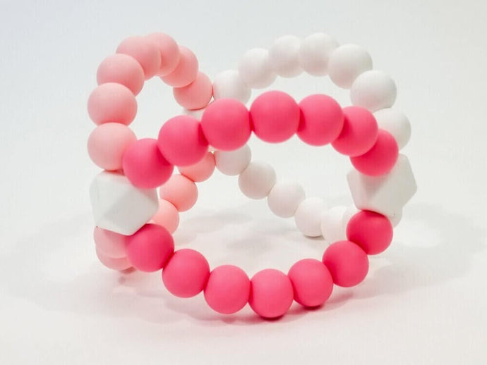 Pink Silicone Teething Ball
