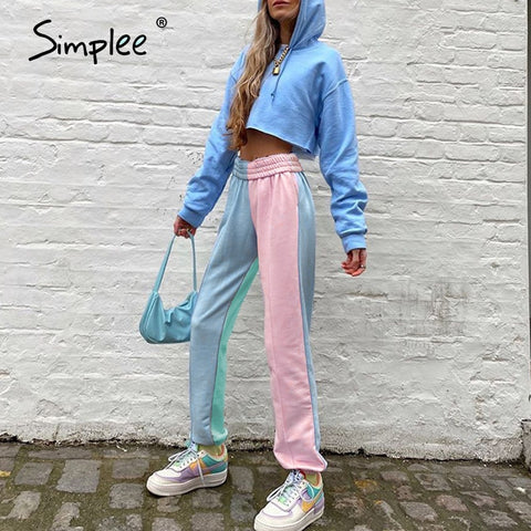 Simplee Bohemian printing lady wide leg pants women Summer beach mid waist trousers Chic streetwear sash casual pants female