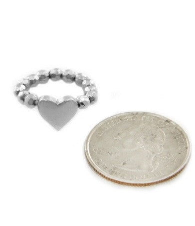 Solid Heart Midi Ring