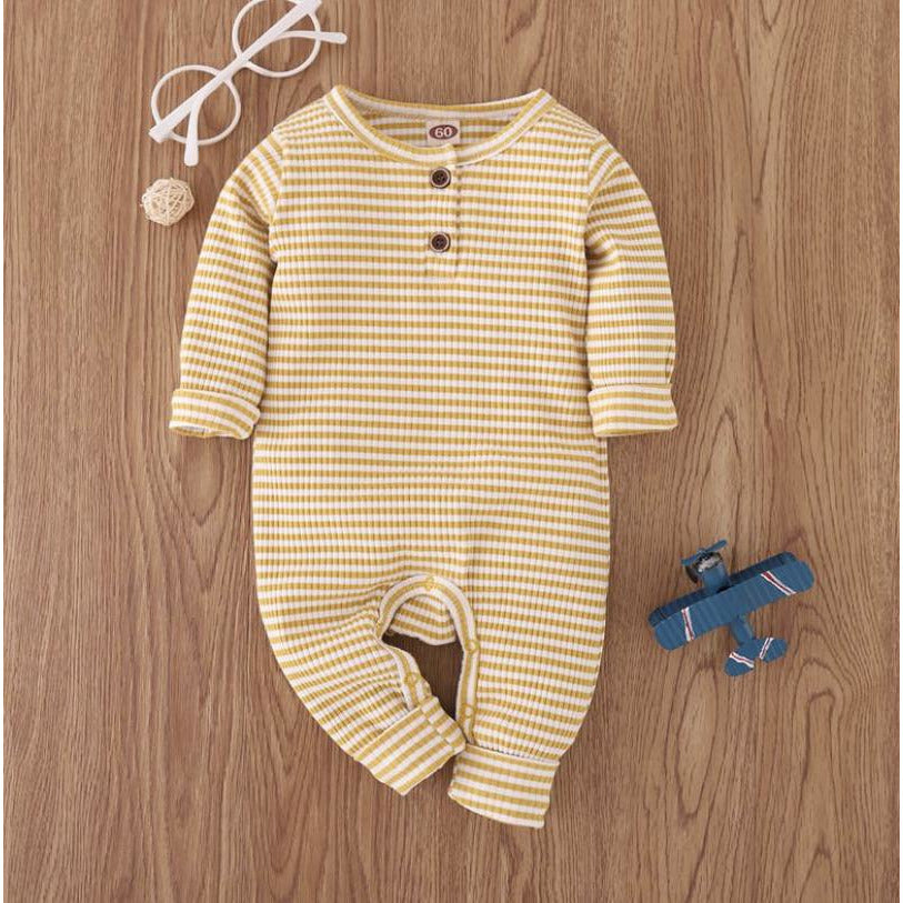 Baby Romper | Mustard Striped