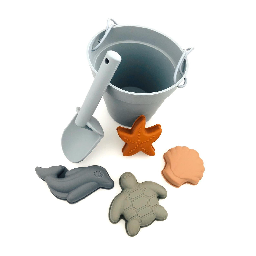 Silicon Bucket & Spade Set | Blue - Multimix | Baby Accessories