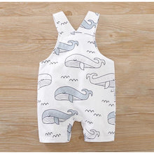 Load image into Gallery viewer, Baby Dungarees | Whale Design