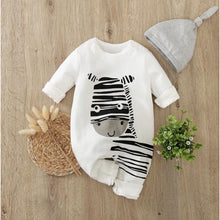 Load image into Gallery viewer, Baby Romper Zebra Design