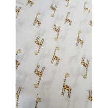 Load image into Gallery viewer, Large Baby Muslin Swaddle | Giraffe Design