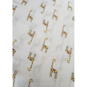 Large Baby Muslin Swaddle | Giraffe Design