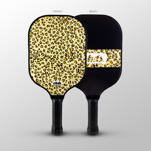 Leopard Skin Pattern Long Pickleball Paddles