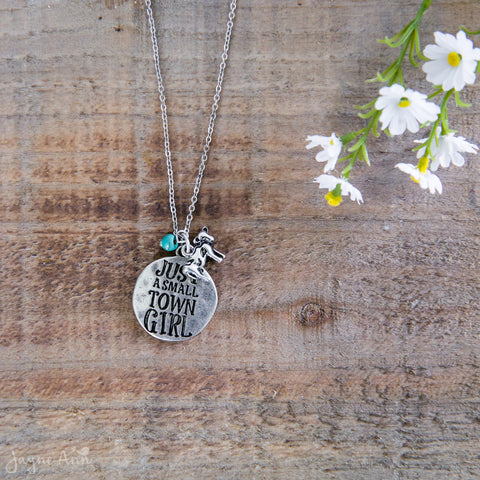 Just A Small Town Girl Stamped Necklace