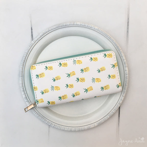 Pineapple Print Wallet