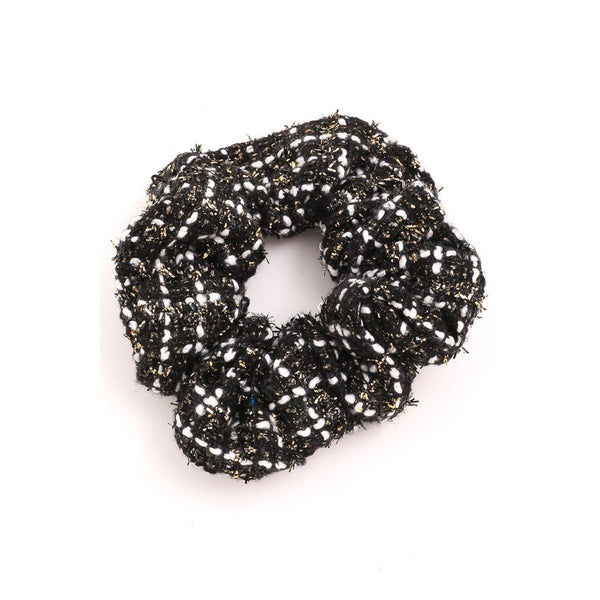 Tweed Sparkle Scrunchies