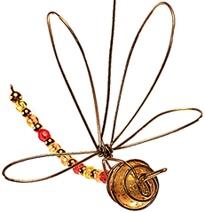 Wire & Bead Dragonfly Mobile