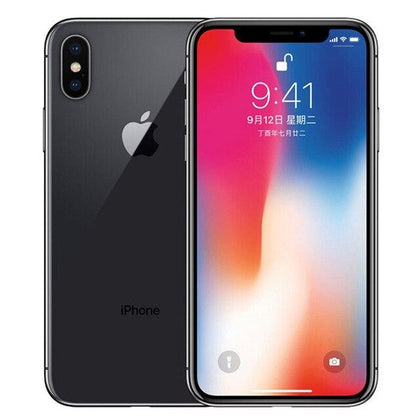 Original Used Unlocked Apple iPhone X 256GB-black