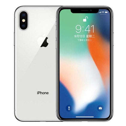 Original Used Unlocked Apple iPhone X 64GB-silver
