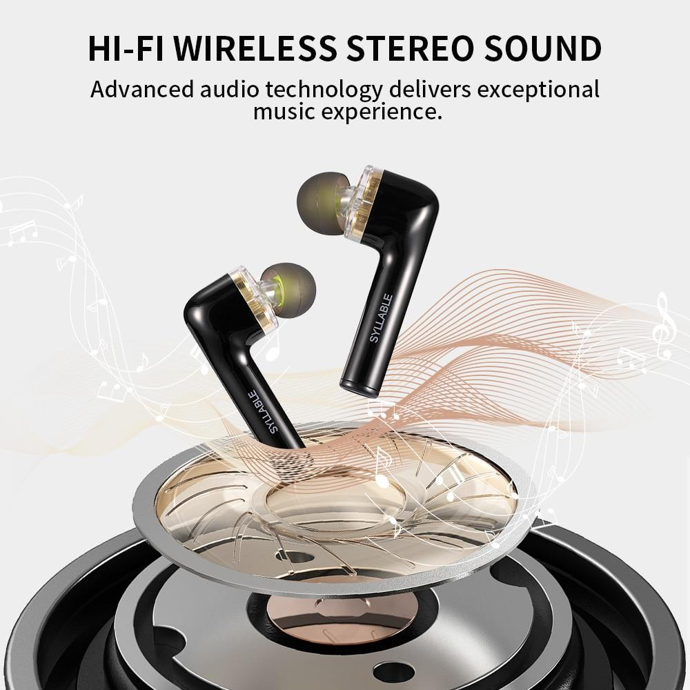 Bluetooth V5.0 bass earphones wireless headset noise reduction