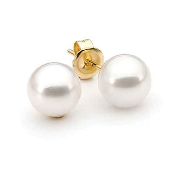 Akoya Pearl Stud Earrings 18ct Yellow Gold