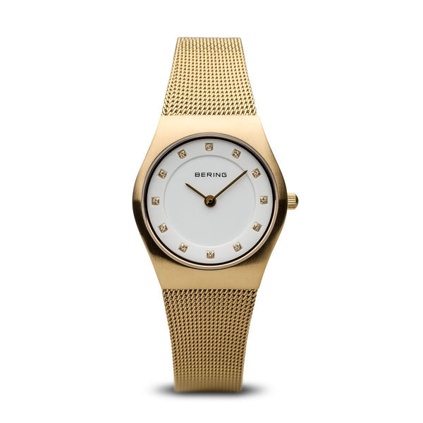 Bering Classic Brushed Gold Watch