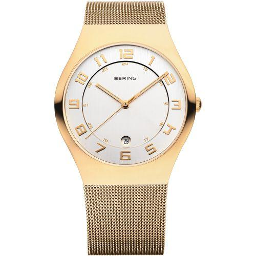 Bering Classic Polished Gold Mesh 37mm Watch