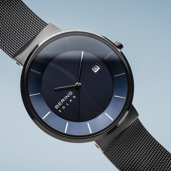 Bering Solar Polished Black Watch