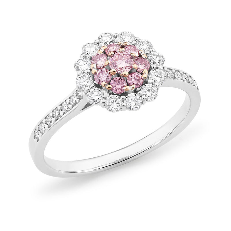 PINK CAVIAR 0.61ct Pink Diamond Ring in 18ct White & Rose Gold