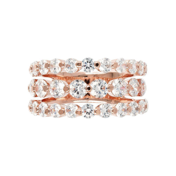 Bronzallure 3 Row Riviera Ring