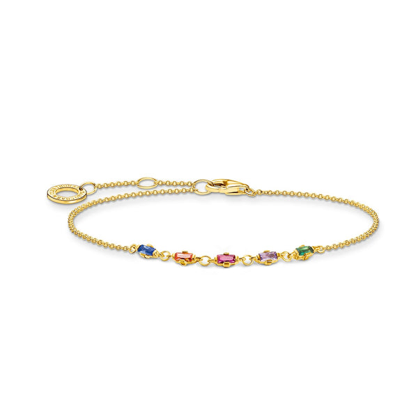 Thomas Sabo Bracelet Colourful Stones Gold