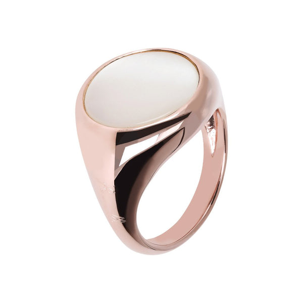 Bronzallure Mother Of Pearl Signet Ring