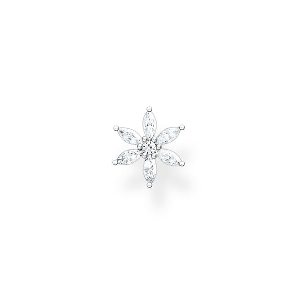 Thomas Sabo Single Ear Stud Flower Silver