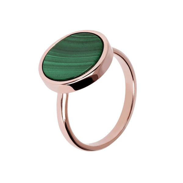 Bronzallure Malachite Ring
