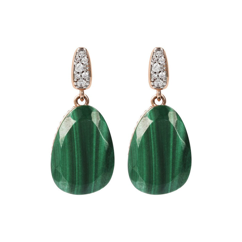 Bronzallure Preziosa Malachite Earrings