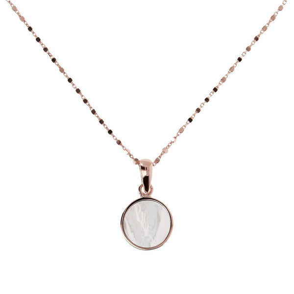 Bronzallure Mother Of Pearl Small Disc Necklet