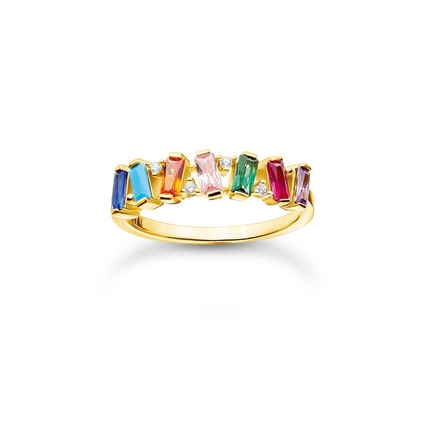 Thomas Sabo Ring Colourful Stones Gold