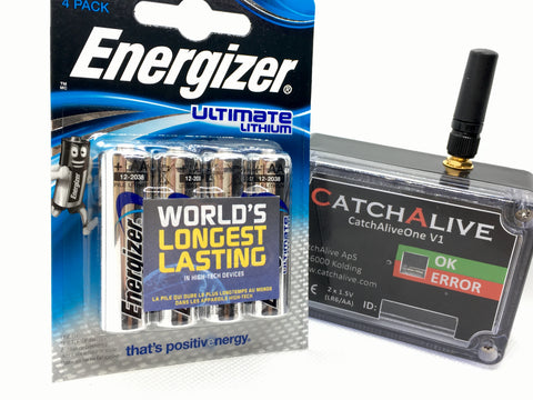 4 x AA Energizer Ultimate Lithium batterier