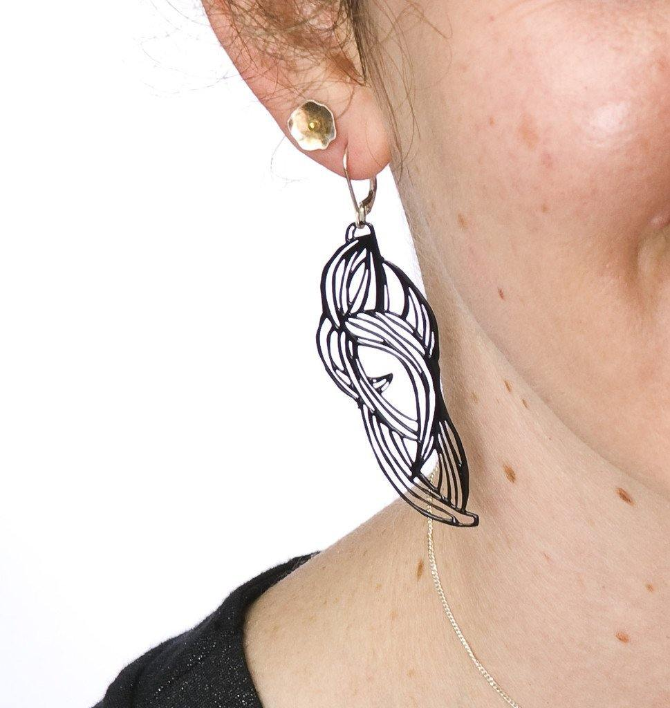 Leaf Pop-Out Earrings - Pop-Out Jewelry