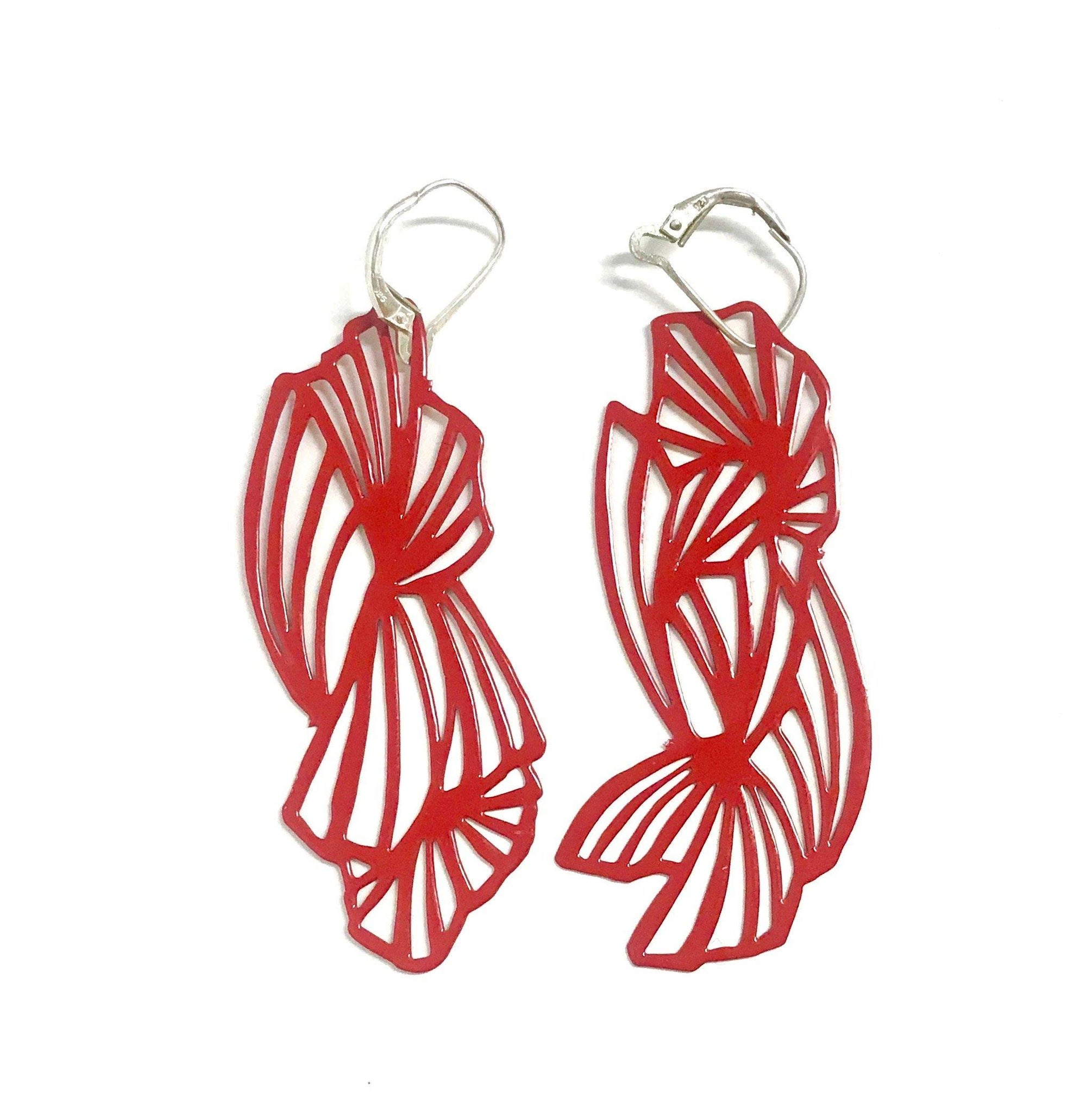 Fan Pop-Out Earrings - Pop-Out Jewelry