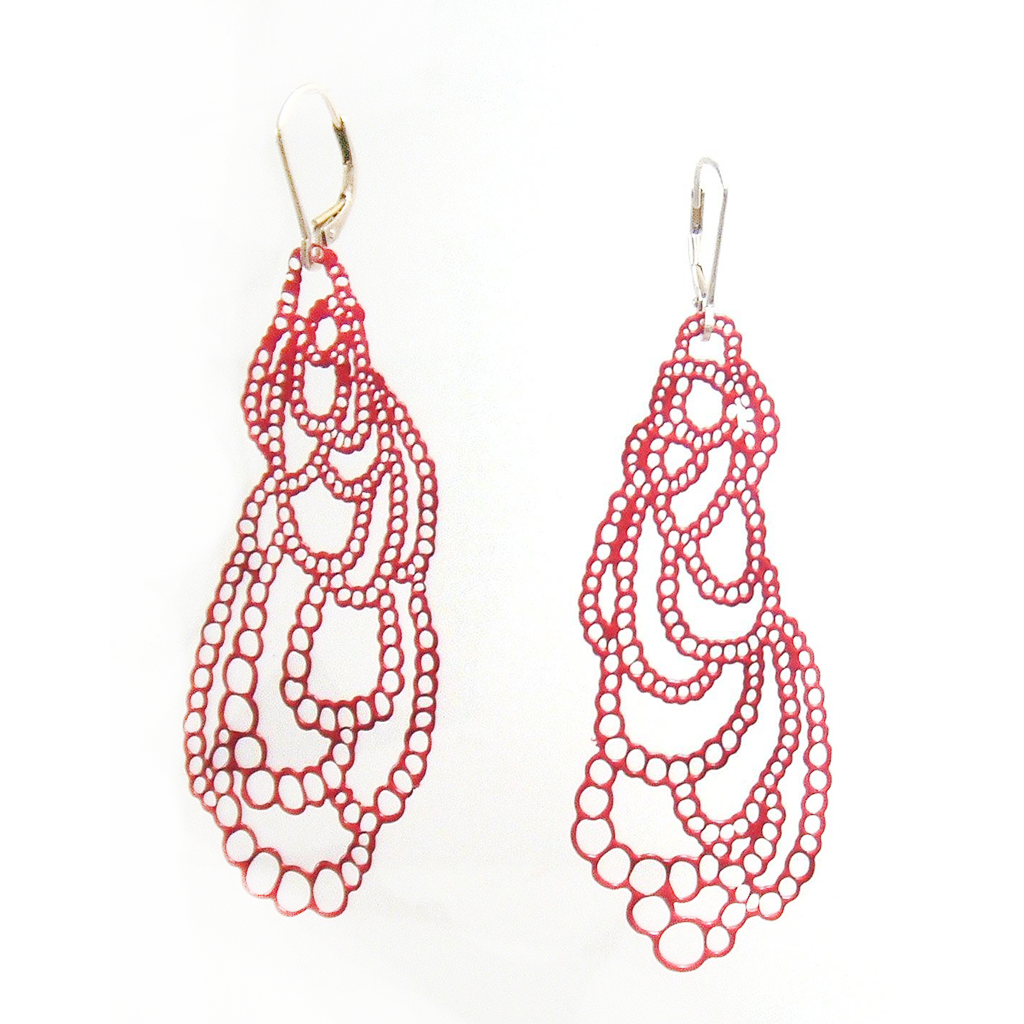 Lace Pop-Out Earrings - Pop-Out Jewelry