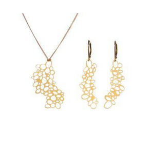 Seeds Pop-Out Pendant and Earring Set - Pop-Out Jewelry