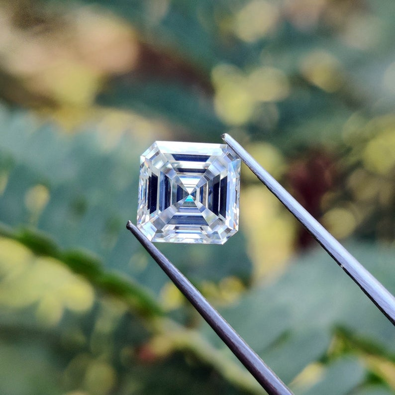 1Ct To 10Ct Asscher Cut D-E-F Color Loose Moissanite for Jewelry