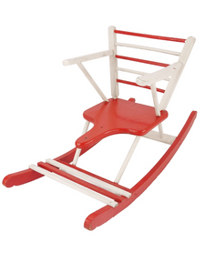 Rocking chair rouge et blanc