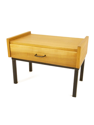 Table de chevet teck blond