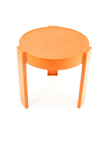 Petite table de chevet orange