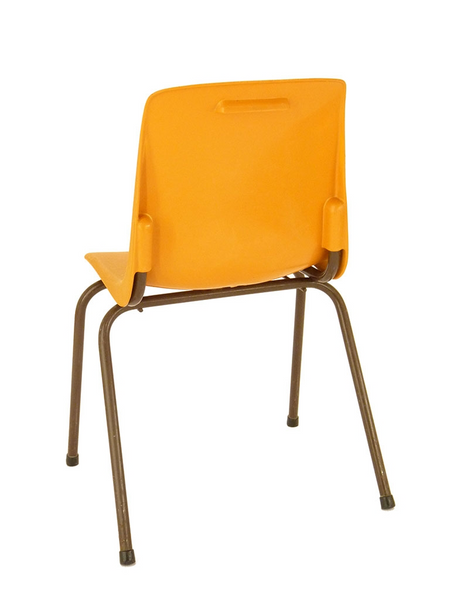 Chaise d'école plastique orange
