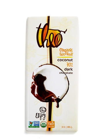 Theo Coconut 70% Dark Chocolate