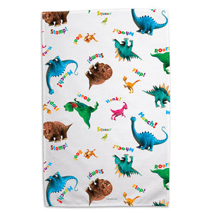 Dinosaur Roar AOP Tea Towel