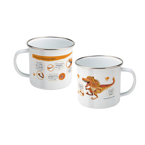 Dinosaur Roar All About Deinonychus Enamel Mug