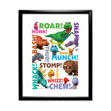 Load image into Gallery viewer, Dinosaur Roar Names Art Print