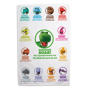 Dinosaur Roar Pronunciation Tea Towel